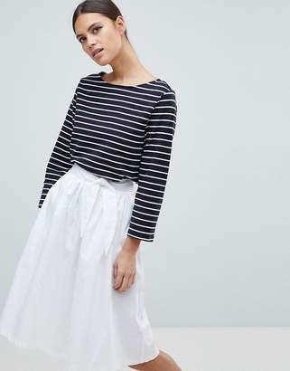 French Connection Tim Tim Stripe 3/4 Sleeve T-Shirt