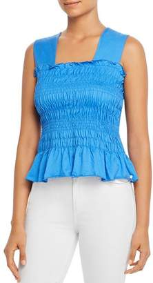 Scotch & Soda Sleeveless Smocked Top