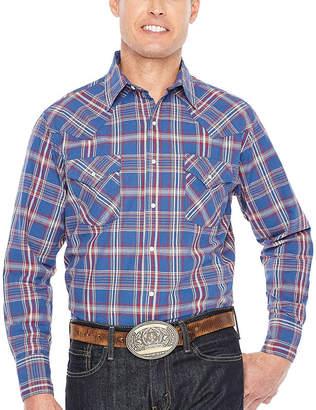 Ely Cattleman Long Sleeve Plaid Snap Shirt