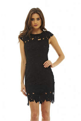 AX Paris Capped Sleeve Crochet Dress