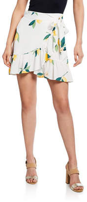 Rails Etienne Lemon-Print Wrap Skirt