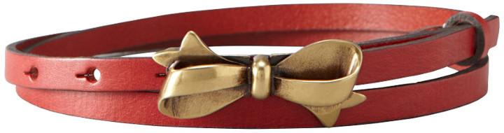 Fossil Bow Skinny Belt