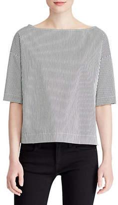 Polo Ralph Lauren Short-Sleeve Boxy Cotton Blouse