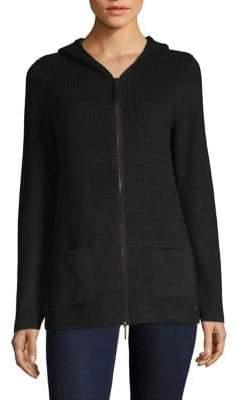 Olsen Hooded Zip-Up Cardigan