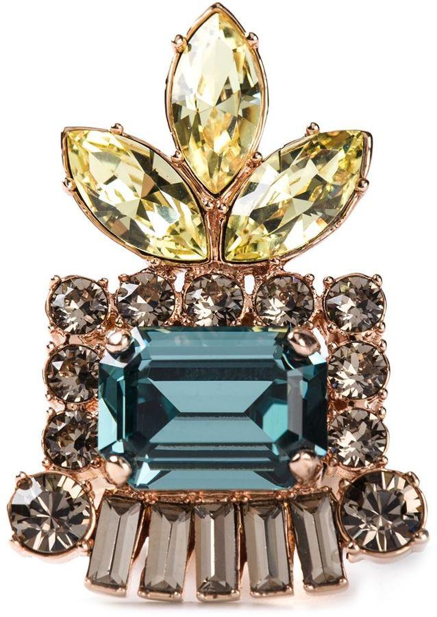 Mawi embellished chunky ring
