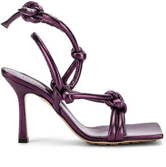 Bottega Veneta Knot Sandals in Viola   FWRD