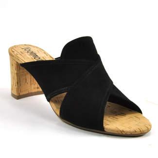 Footnotes Ming - Suede Cork Heel Slide