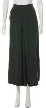 Dries Van Noten Wool Wide-Leg Pants