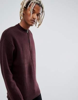 Weekday Kiwi Zip Sweatshirt