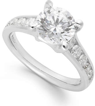 X3 Diamond Engagement Ring in 18k White Gold (2 ct. t.w.), Created for Macy's