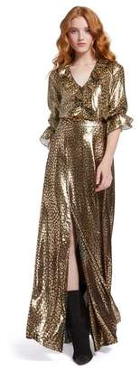 Alice + Olivia Athena Metallic Maxi Skirt