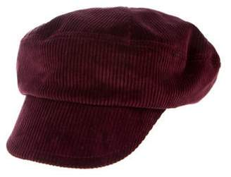 Prada Logo Corduroy Hat Logo Corduroy Hat