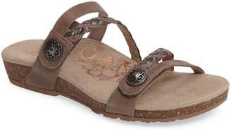 Aetrex Janey Braided Slide Sandal