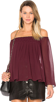 Bailey 44 Helena Top in Burgundy $178 thestylecure.com