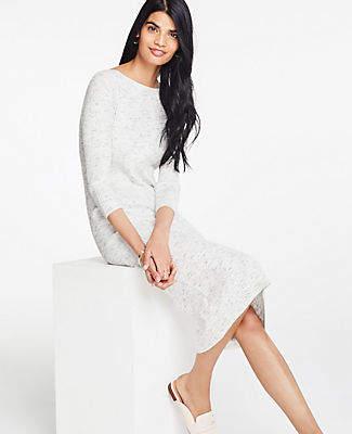 Ann Taylor Ribbed Knit Sweater Dress