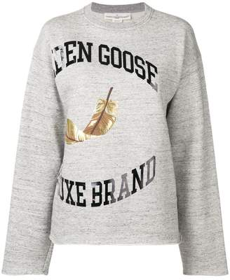 Golden Goose logo print sweater