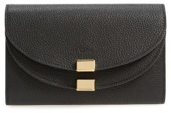 Chloé Women's Chloe Small Georgia Leather Wallet - Black