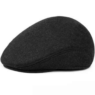 Love essentials Warm Winter Hats with Ear Flap Men Retro Beret Caps Solid  Black Wool Felt f5305dd68a0