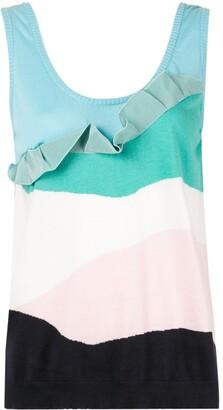 DELPOZO cashmere frilled vest top