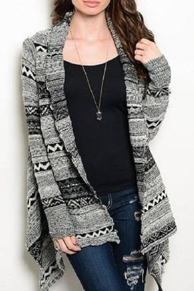Ooh La La Boutique Black Grey Sweater $35 thestylecure.com