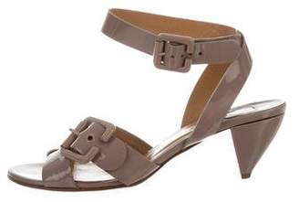 Chloé Patent Leather Buckle Sandals