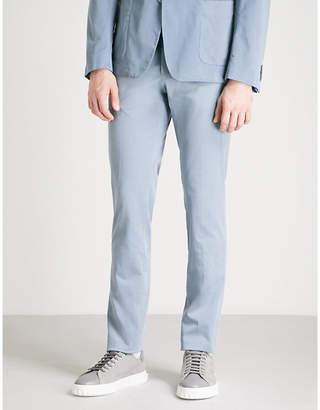 BOSS Regular-fit cotton-blend trousers