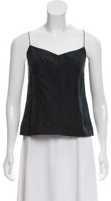 Marc Jacobs Silk Sleeveless Crop Top