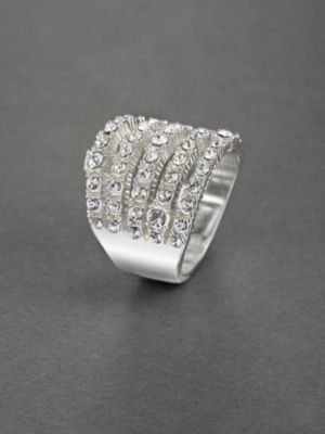 City Bright Multi-Row Rhinestone Ring