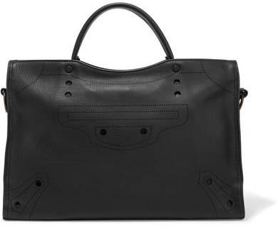 Balenciaga Balenciaga - City Blackout Perforated Leather Tote - one size