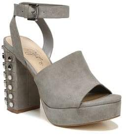 Fergie Jolie Block Heel Suede Sandals