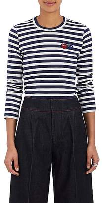 Comme des Garcons Women's Striped Cotton Long-Sleeve T-Shirt