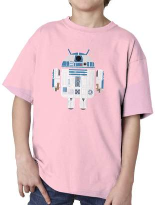Star Wars Blue Bubble Tees BBT Kids Boys Girls R2-D2 Android T-shirt Tee M