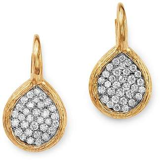 Bloomingdale's Pavé Diamond Teardrop Earrings in Textured 14K Yellow Gold, 1.05 ct. t.w. - 100% Exclusive