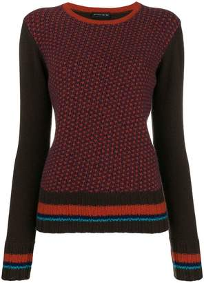 Etro contrast sleeve jumper