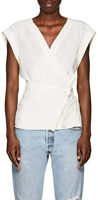Frame Women's Linen Wrap Top