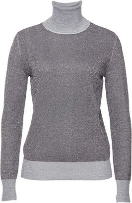 Joseph Turtleneck Pullover with Merino Wool and Metallic Thread