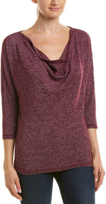 Three Dots Draped Neck Top