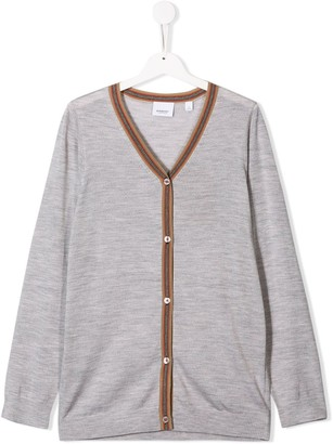 Burberry TEEN long sleeve cardigan