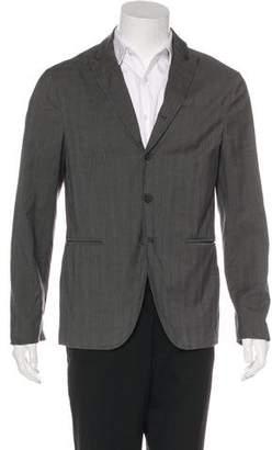 John Varvatos Plaid Deconstructed Sport Coat