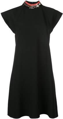 Emporio Armani sequinned collar dress