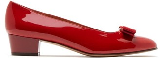 Salvatore Ferragamo Vara Patent Leather Pumps - Womens - Red