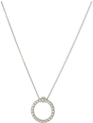 Roberto Coin Tiny Treasures Circle Pendant with Diamonds Necklace