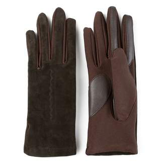 Journee Collection Women's Suede Leather Lined Tech Gloves
