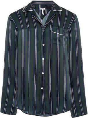 Loewe Striped Silk-Satin Shirt