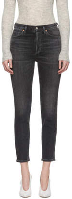 Citizens of Humanity Black High-Rise Slim Ankle Olivia Jeans