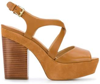 f290ac5c8dc7 Brown Leather Wedge Sandals - ShopStyle UK