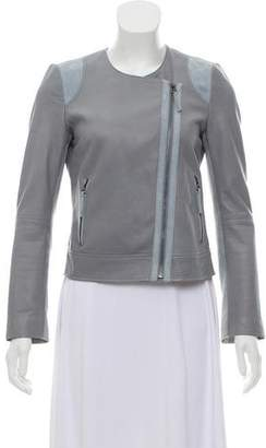 Joie Zip-Accented Leather Jacket