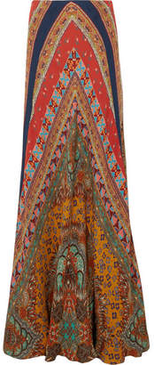 Etro Printed Silk-georgette Maxi Skirt - Red