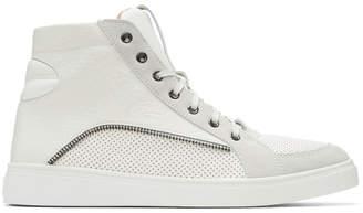 Diesel Off-White S-Vip High-Top Sneakers