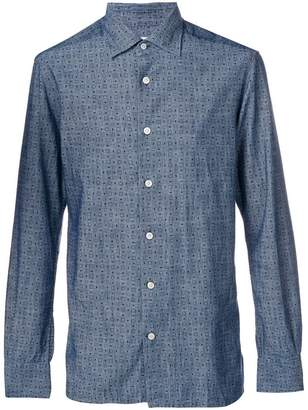 Kiton printed fitted shirt
